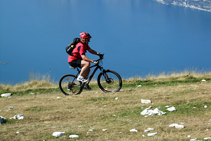 Beim Biken am Gardasee