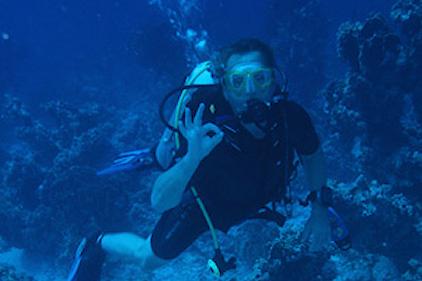 Beim Tauchgang im Roten Meer